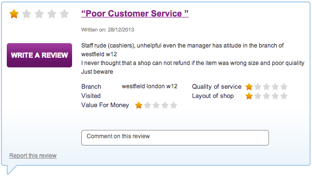 USC - Poor Customer Service Review