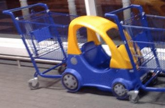 Shopping trolly with kids car